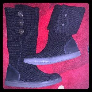 Knot Sock Black Ugg Boots 10